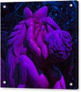 Bright Purple Cupid Acrylic Print