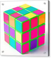 Bright Rubix Acrylic Print by Kenneth Feliciano
