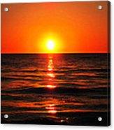 Bright Skies - Sunset Art By Sharon Cummings Acrylic Print