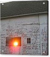 Bright Sunrise Through Barn Acrylic Print