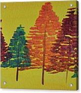 Bright Trees Acrylic Print