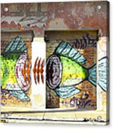 Brightly Colored Fish Mural Acrylic Print