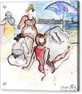Brighton Beach On A Windy Day Acrylic Print