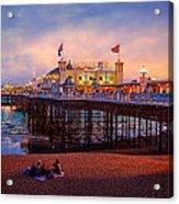 Brighton's Palace Pier At Dusk Acrylic Print