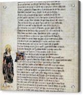 Brigit Of Kildare (d Acrylic Print