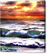 Brilliant Nags Head Sunrise Acrylic Print