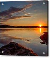 Brilliant Sunrise. Baxter Lake Nh Acrylic Print