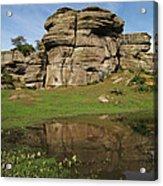 Brimham Rocks Reflection Acrylic Print