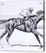 Bring On The Race Zenyatta Acrylic Print
