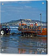 Bringing In The Lifeboat Acrylic Print