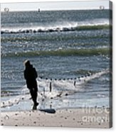 Bringing In The Net Acrylic Print