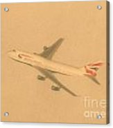 British Airways Aeroplane Acrylic Print