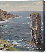 British Coastal View. Coast Of Cornwall Acrylic Print