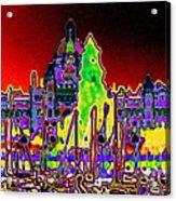 British Columbias Capitol Building At Night Acrylic Print