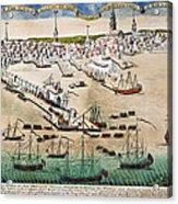 British Landing, 1768 Acrylic Print