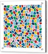 British Mosaic Multi Acrylic Print