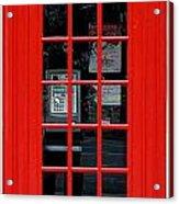 British Phone Box Acrylic Print