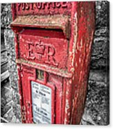 British Post Box Acrylic Print by Adrian Evans