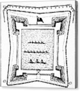 British Redoubt, 1777 Acrylic Print