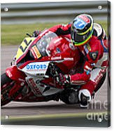 British Superbike Rider Barry Burrell   Acrylic Print
