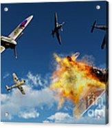 British Supermarine Spitfires Battle Acrylic Print