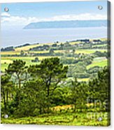 Brittany Landscape With Ocean View Acrylic Print by Elena Elisseeva