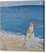 Brittany Loves The Beach Acrylic Print