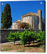 Brittany Vineyard And Monastery  Acrylic Print