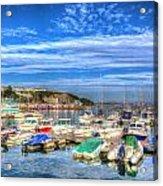 Brixham Marina Devon England Uk On Calm Summer Day With Blue Sky Acrylic Print