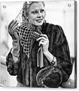 Broadway Actress Claire Luce Acrylic Print