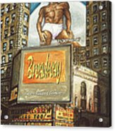Broadway Billboards - New York Art Acrylic Print
