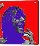 Broadway Joe Namath Telling Football Story C.c. And Co. Set  Tucson Arizona 1970-2012 Acrylic Print