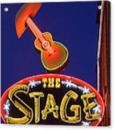 Broadway Neon Sign Acrylic Print