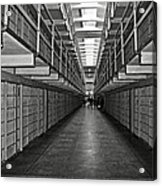 Broadway Walkway In Alcatraz Prison Acrylic Print by RicardMN Photography