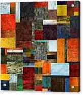 Brocade Color Collage 2.0 Acrylic Print