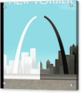 Broken Arch. A Scene From St. Louis Acrylic Print by Bob Staake