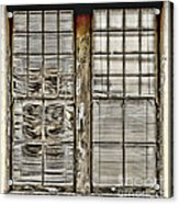 Broken Blinds At The Train Station By Diana Sainz Acrylic Print