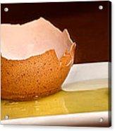 Broken Brown Egg  Acrylic Print