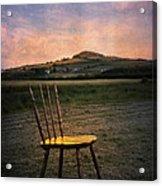 Broken Chair Acrylic Print