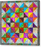 Broken Dishes - Quilt Pattern - Painting 2 Acrylic Print