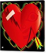 Broken Heart Mended Acrylic Print