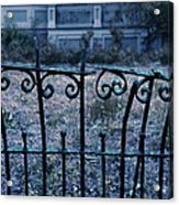 Broken Iron Fence By Old House Acrylic Print