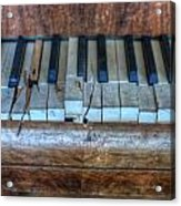 Broken Keys Acrylic Print