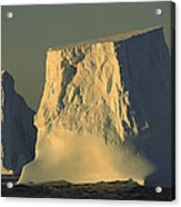 Broken Tabular Icebergs Antarctica Acrylic Print
