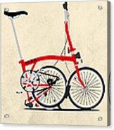 Brompton Bike Acrylic Print by Andy Scullion