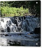 Bronx River Waterfall Acrylic Print by John Telfer