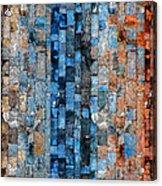 Bronze Blue Wall Acrylic Print