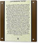 Bronze Frame Original Desiderata Poster Acrylic Print