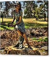 Bronze Girl At Woodward Park Acrylic Print