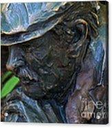 Bronze Man Sitting Acrylic Print
